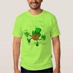 Basketball Leprechaun Light Green T-shirt