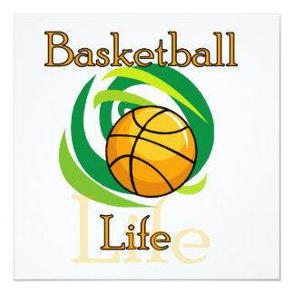 Basketball Life T-shirts and Gifts 13 Cm X 13 Cm Square Invitation Card