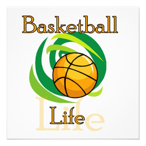 Basketball Life T-shirts and Gifts Invite