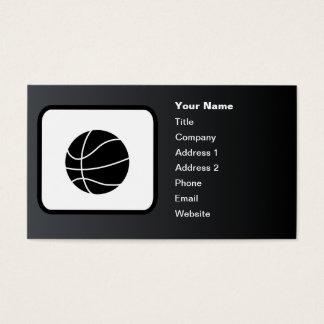 Basketball Logo Customizable Black Business Card