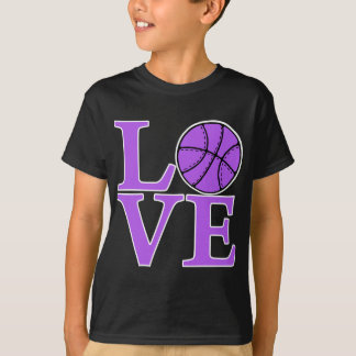 Basketball LOVE, lavender T-Shirt