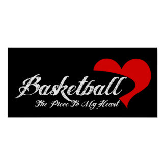 Basketball Love Poster