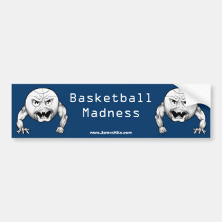 Basketball Madness Bumper Sticker