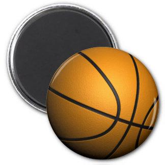 Basketball 6 Cm Round Magnet