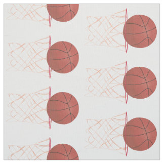 Basketball making the basket net hoop fabric