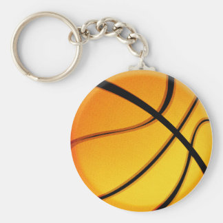 Basketball mania key-chain basic round button key ring
