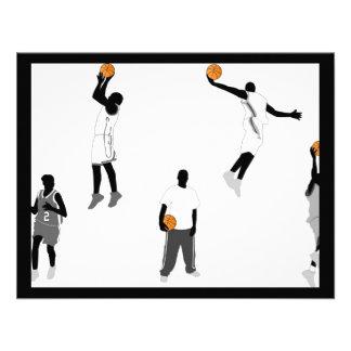 basketball-men custom invitation