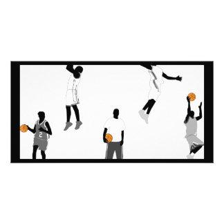 basketball-men photo card template
