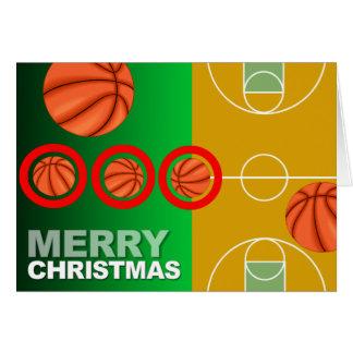 Basketball Merry Christmas Card