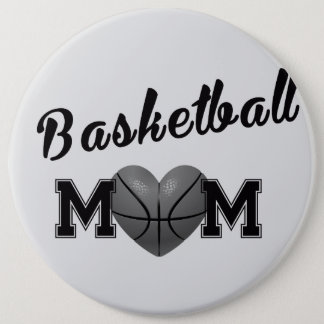 Basketball mom 6 cm round badge
