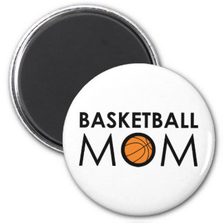 Basketball Mom 6 Cm Round Magnet