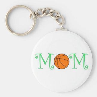 Basketball Mom Keychain, Green