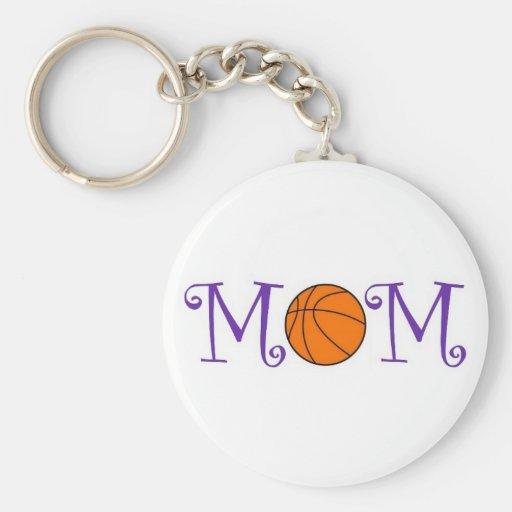 Basketball Mom Keychain, Purple