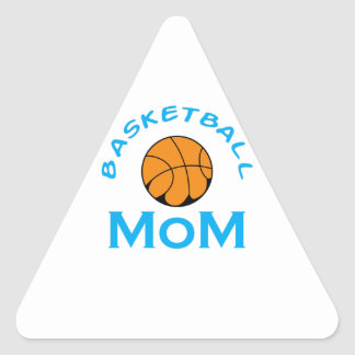 BASKETBALL MOM TRIANGLE STICKER