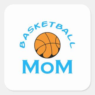 BASKETBALL MOM SQUARE STICKER