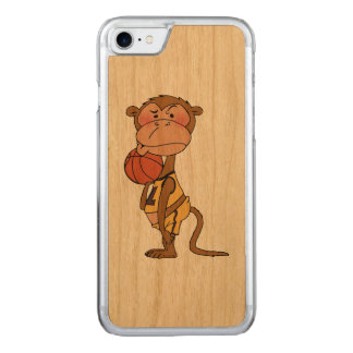 basketball monkey player carved iPhone 7 case