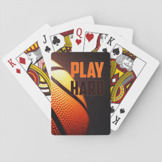 Basketball motivation - play hard by storeman poker deck