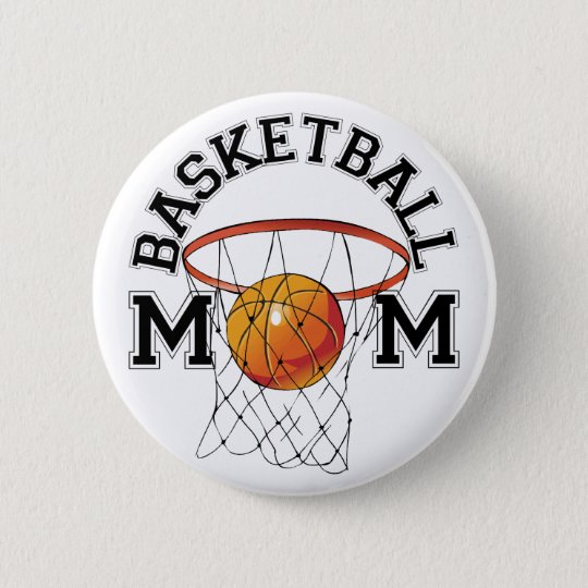 Basketball Mum 6 Cm Round Badge