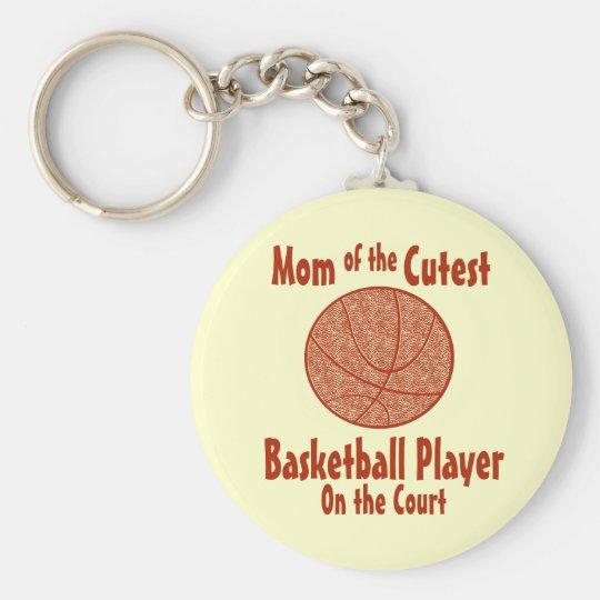 Basketball Mum Basic Round Button Key Ring