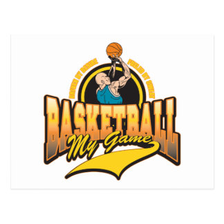 Basketball My Game Postcard