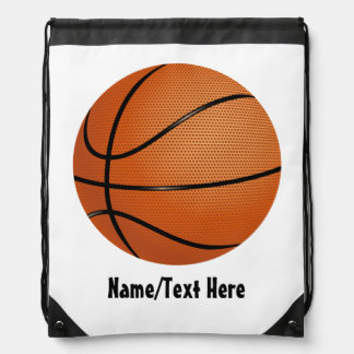 Basketball Name Customize Drawstring Bag