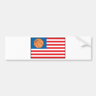 Basketball Nation Bumper Sticker