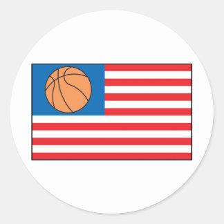 Basketball Nation Round Sticker