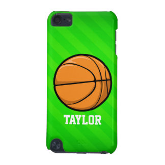 Basketball; Neon Green Stripes iPod Touch 5G Cover