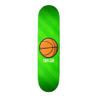 Basketball; Neon Green Stripes 21.6 Cm Skateboard Deck