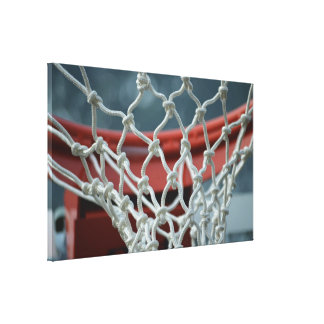 Basketball Net Stretched Canvas Prints
