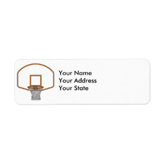 basketball net graphic return address label