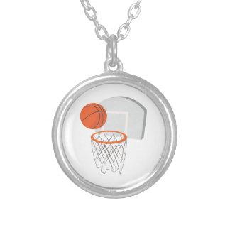 Basketball Net Round Pendant Necklace