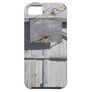 Basketball net on rustic building iPhone 5 covers