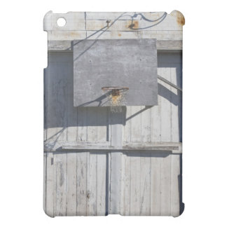 Basketball net on rustic building cover for the iPad mini