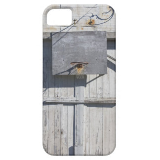 Basketball net on rustic building iPhone 5 cases