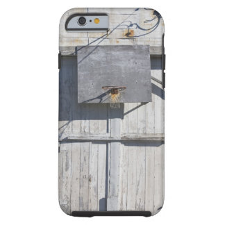 Basketball net on rustic building tough iPhone 6 case