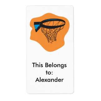 basketball net shipping label
