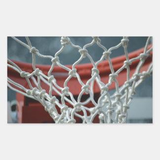 Basketball Net Rectangle Sticker