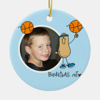 Basketball  Nut Photo Keepsake Ornament