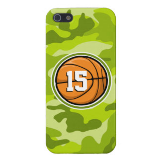Basketball on bright green camo camouflage iPhone 5/5S cases