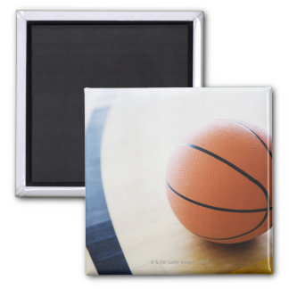 Basketball on court magnet