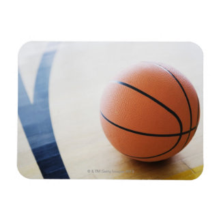 Basketball on court flexible magnets