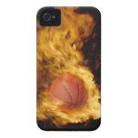 Basketball on fire (digital composite)