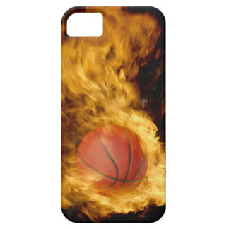 Basketball on fire (digital composite) barely there iPhone 5 case