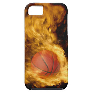 Basketball on fire (digital composite) iPhone 5 case