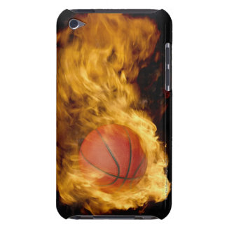 Basketball on fire (digital composite) iPod touch covers