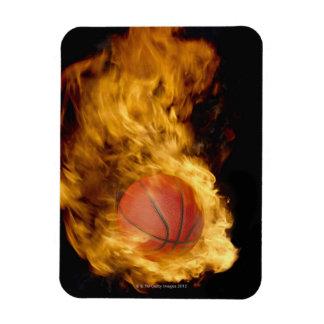 Basketball on fire (digital composite) magnet