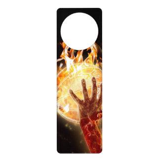 Basketball on Fire Door Hanger