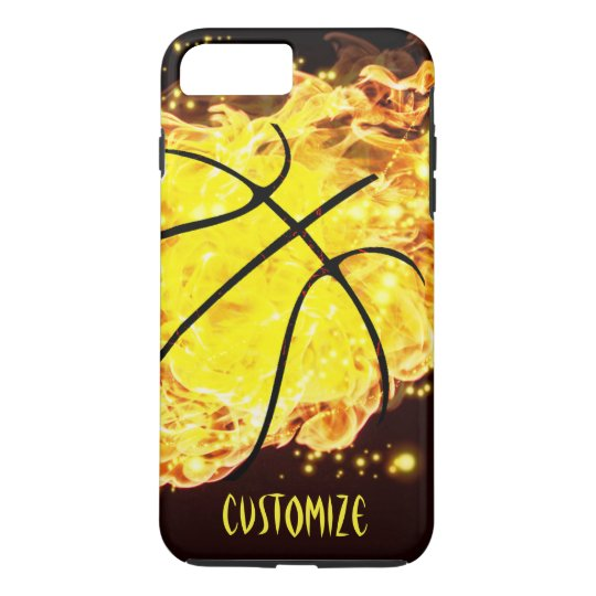 Basketball On Fire Flames Lava iPhone 7 Tough