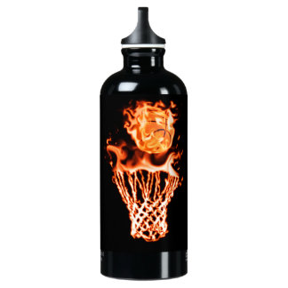 Basketball on fire going through the fire net SIGG traveller 0.6L water bottle